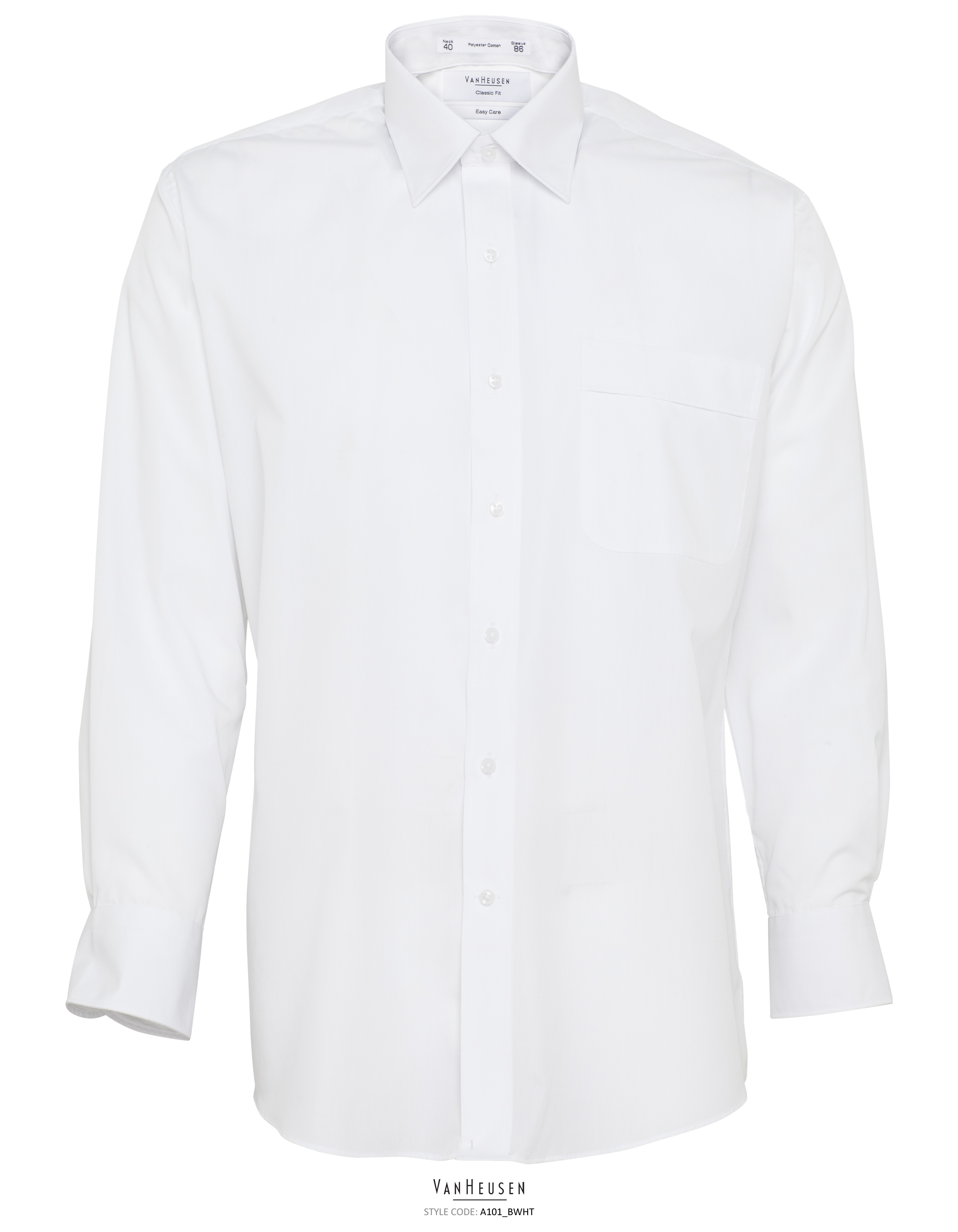 Van Huesen A101 White Business Shirt