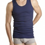 Navy Bonds Athletic Singlet